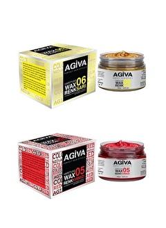 Agiva Agiva Renkli Wax Sarı+Kırmızı